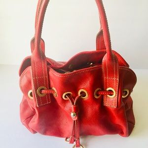Vera Pelle Red Italian Leather Satchel
